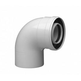 Коаксиальный отвод полипропиленовый 87°, диам. 60/100 мм, HT Baxi (KHG71405971)